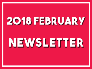 Click here to read my newsletter for February 2018