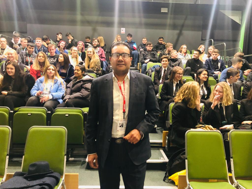 Faisal visits Barrowhall College
