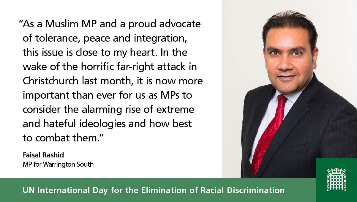 Faisal's speech on the UN International Day for the Elimination of Racial Discrimination