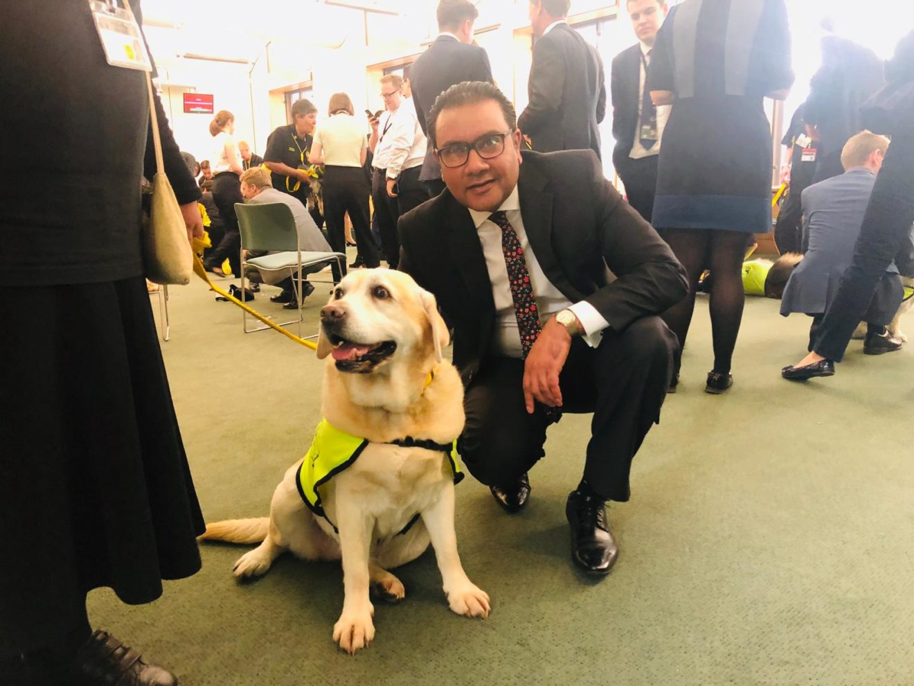 Faisal Rashid MP welcomes Therapy Dogs Nationwide to Parliament